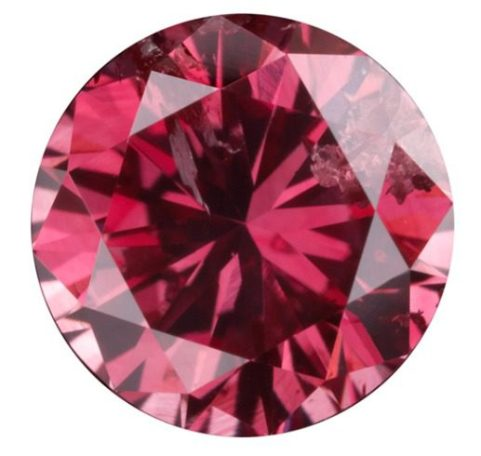 0.54-carat, fancy intense purplish-red Lady-in-Red diamond from Argyle