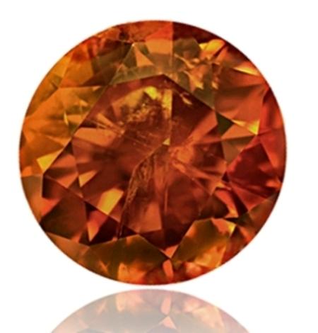 1.41-carat, modern round brilliant-cut, fancy deep orange diamond