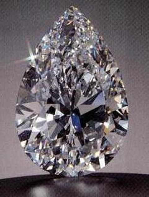 100.1-carat, D-color, pear-shaped, internally flawless, Star of the Season diamond