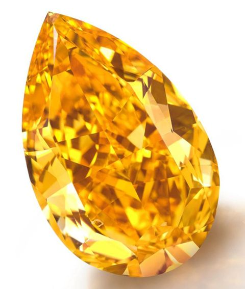 !4.82-carat fancy vivid orange pear-shaped diamond -World's largest fancy vivid orange diamond