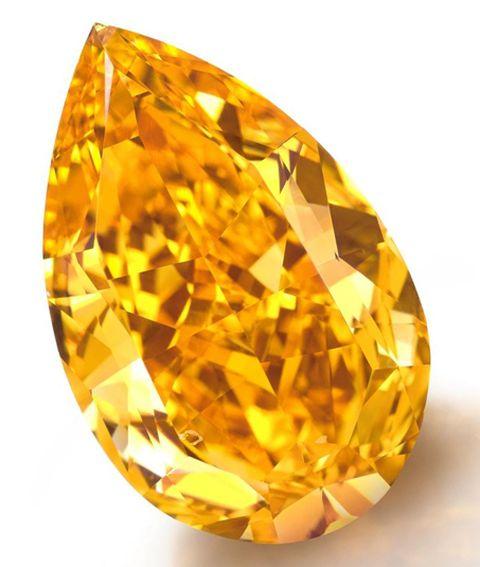 !4.82-carat fancy vivid orange pear-shaped diamond -World's largest fancy vivid orange diamond