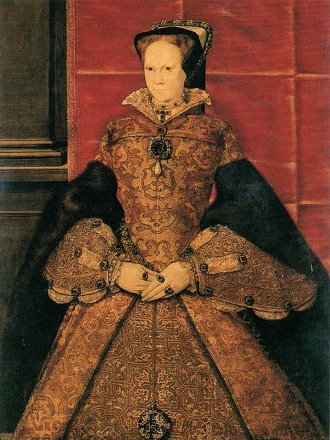 1554-Portrait of Mary I by Hans Eworth