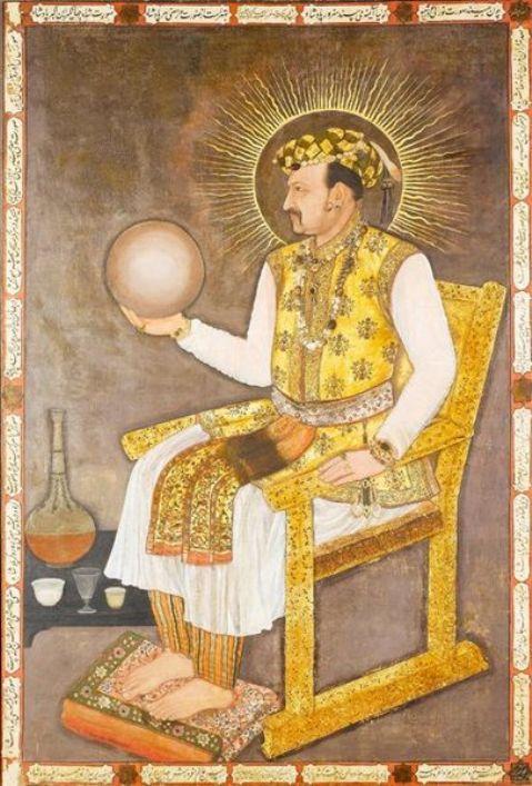 1617-Portrait of Jahangir Shah by Abu'l Hasan, Nadir al-Zaman