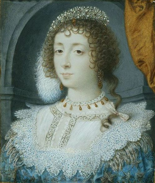 Portrait of Henrietta Maria by John Hoskins around 1632