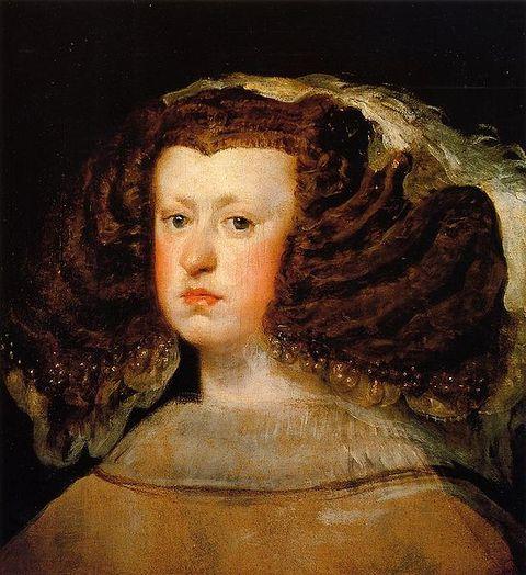 1656-Portrait of Mariana of Austria by Diego Velazquez