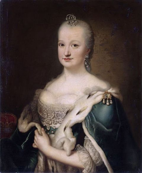 1735-Portrait of the Princess of Brazil, Mariana Victoria - Wife of Joseph, Prince of Brazil, heir to the Portuguese throne