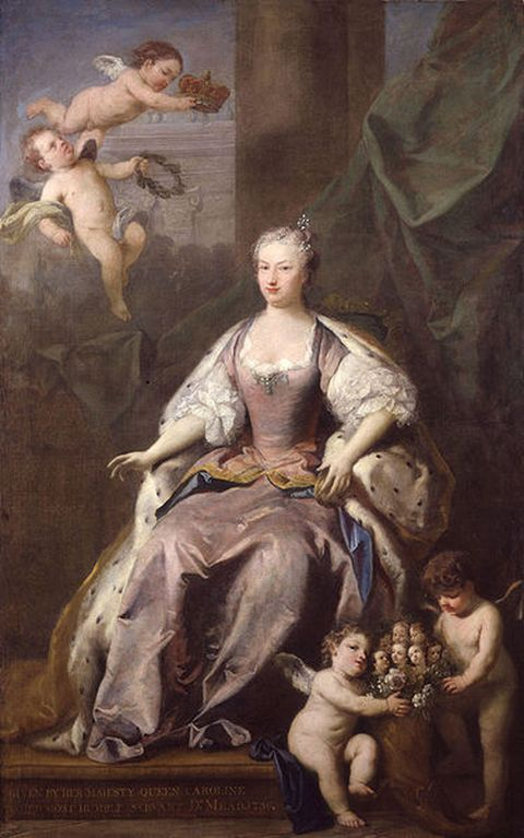 Portrait of Queen Caroline executed in 1735 by Jacopo Amigoni