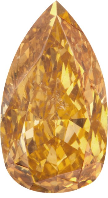 2.01-carat fancy deep yellow-orange pear-shaped diamond from the Langerman Collection