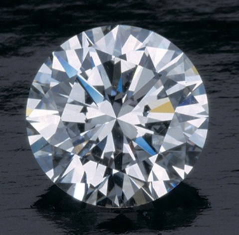 2.48-carat, modern round brilliant-cut colorless diamond from GIA website - Photo by Robert Weldon