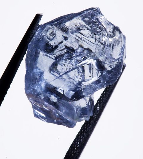 25.5-carat, rough blue diamond from which the Premier Blue Diamond was probably fashioned