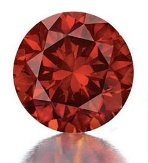 3.15-carat, circular-cut, fancy reddish-orange diamond