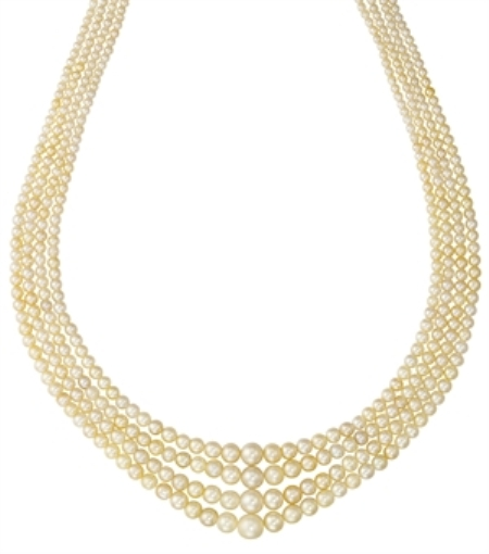 4 row natural pearl necklace sold at Christie's auction in Dubai in April 2008