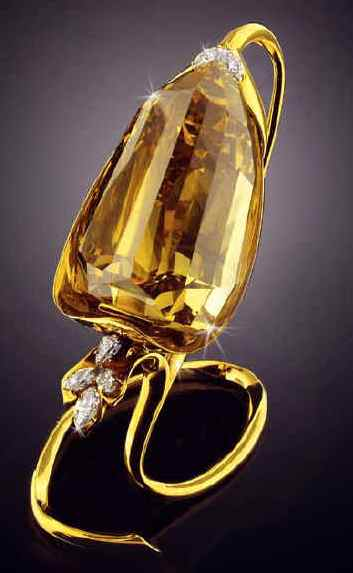 407.48-carat fancy brownish yellow Incomparable diamond