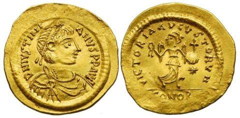 Tremissis of Emperor Justinian I
