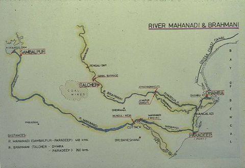 The rivers Mahanadi and Brahani