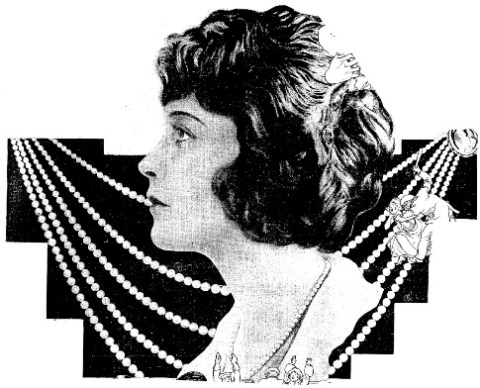 Photograph of Anna Thomson Dodge 5-strand pearl necklace that appeared in the Lima News in 1922.