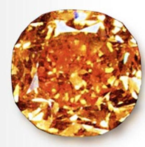 5.54-carat, cushion-cut, fancy vivid orange Pumpkin diamond