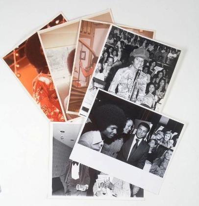 Lot 320: A group of six vintage photos featuring Michael Jackson