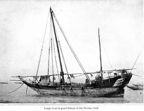 A Pearl fishing boat at the Persian Gulf
