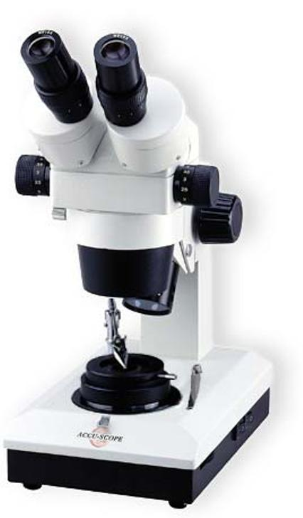 Accu-Scope Stereo Microscope for gemstone testing.