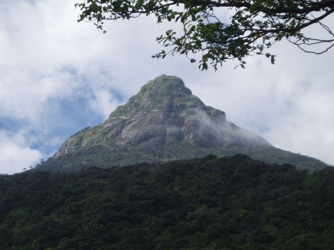 Adam's Peak and the surrounding wilderness