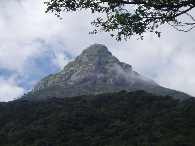 Adam's Peak and the surrounding wilderness