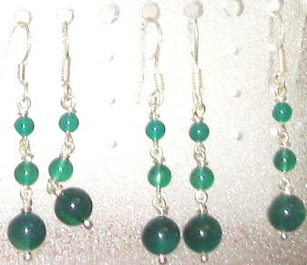 Agate Gemstone Eardrop Jewelry