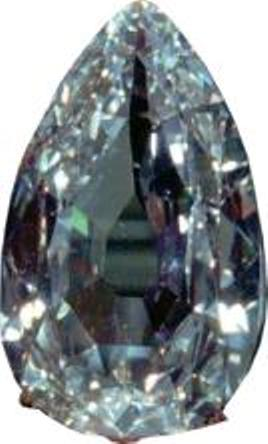 Ahmedabad Diamond - D-color, pear-shaped, VS1-clarity stone weighing 78.86 carats