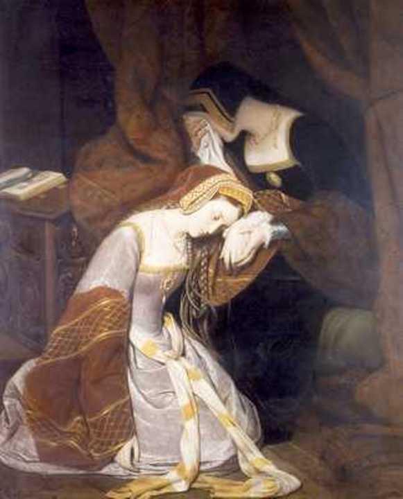 Anne Boleyn imprisoned in the London Tower