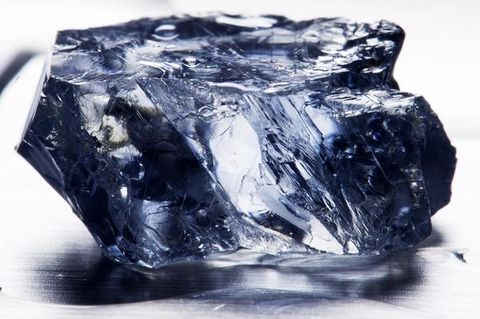 Another view of the 25.5-carat rough blue diamond discovered in the Premier/Cullinan Diamond Mine in April 2013