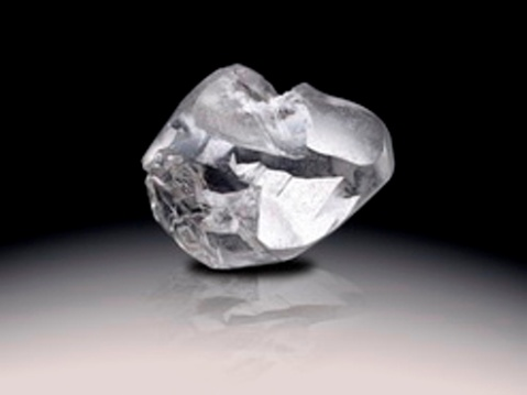Another view of the Light of Letseng rough diamond