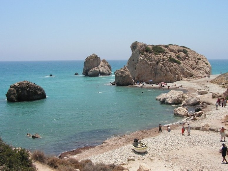 Petra tou Romiou (Rock of the Greek) - Legendary Birthplace of Aphrodite in Paphos,Cyprus