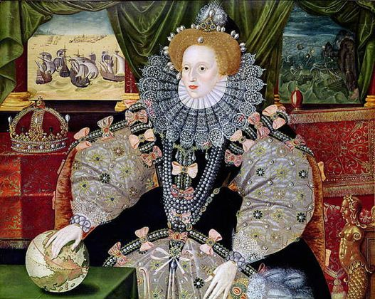 Armada Portrait of Elizabeth 1 commemorating the defeat of the Spanish Armada in 1588