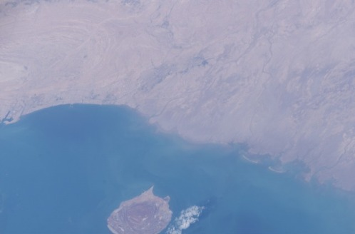 Hormuz Island and Bandar Abbas- Satellite Photo taken by NASA in 2003
