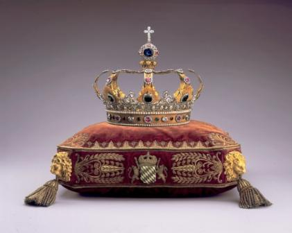 Bavarian King's Crown with the Wittelsbach Diamond mounted on the top