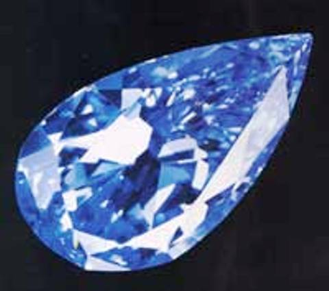 The Blue Magic Diamond removed from its ring setting
