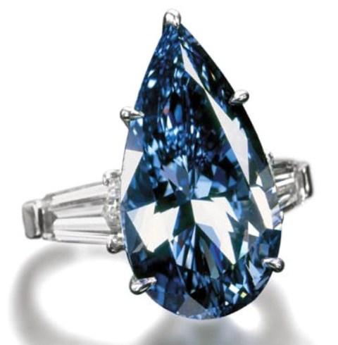 Blue Magic diamond set in an 18-carat white gold ring