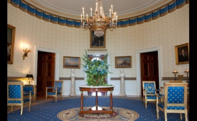 Blue Room of the White House - Photograph taken on October 8, 2009
