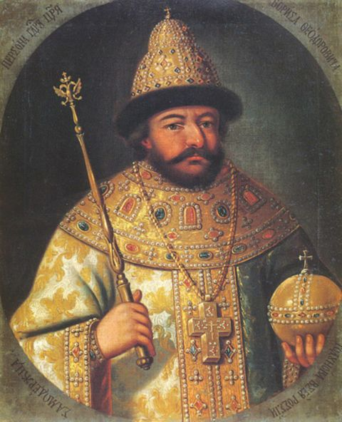 Boris Godunov after he was crowned Tsar of Russia on 1st September, 1598