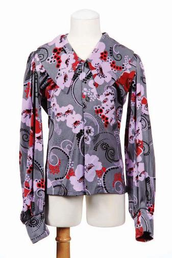 Michael Jackson stage-worn Boyd Clopton design stylized cherry blossom  floral shirt from 1971 d05733675edd