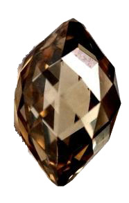 3.6-carat brown briolette-cut diamond