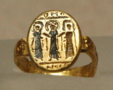 Gold Byzantine wedding ring-7th Century A.D