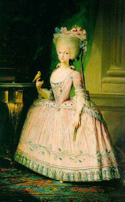 Charlotte Joaquina wearing panniers - Portrait painted before her marriage while an infanta of Spain
