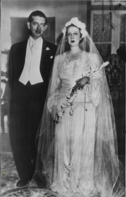 Carol II and Elena Lupescu at their wedding in Rio in 1947