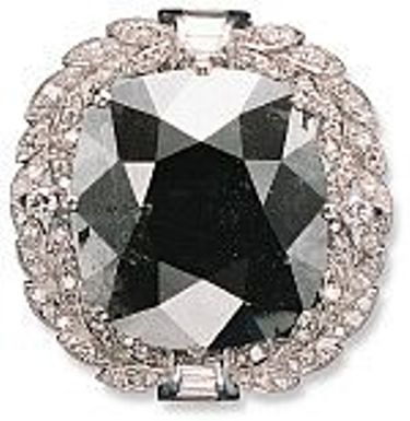 Cartier Black Orloff diamond pendant/brooch setting