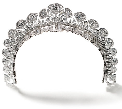 The Cartier Halo Tiara worn by the Duchess of Cambridge Kate Middleton