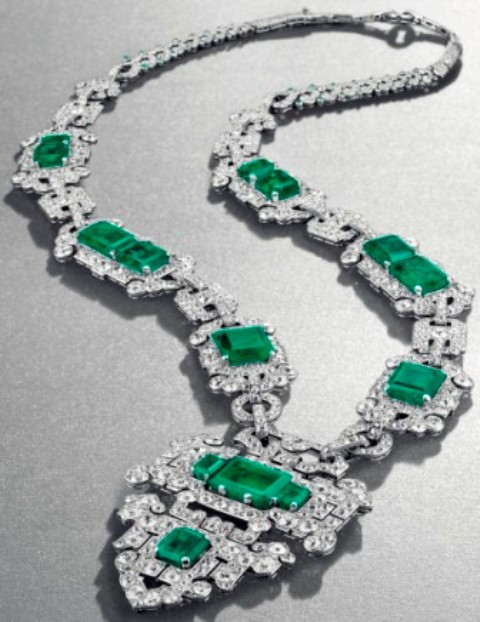 Cartier's Art Deco Emerald and Diamond Sautoir
