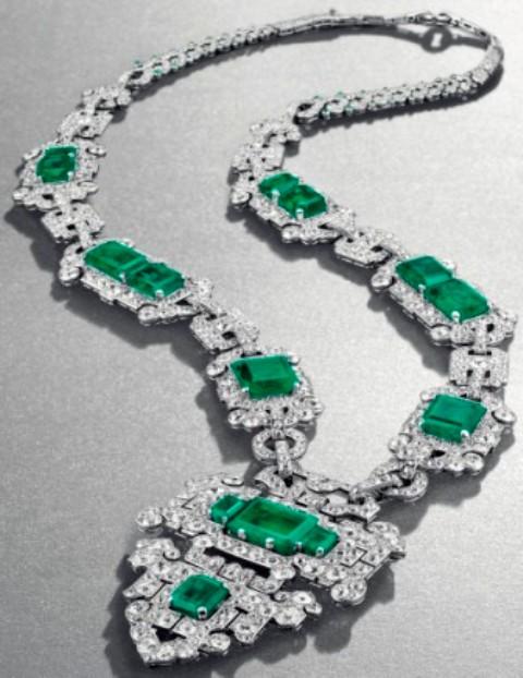 Cartier S Art Deco Emerald And Diamond Sautoir