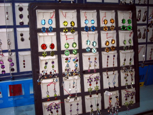 gemstone ear rings