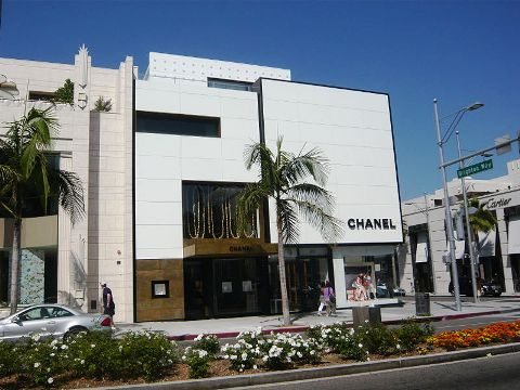 The Chanel boutique on Rodeo drive, Beverly Hills, California